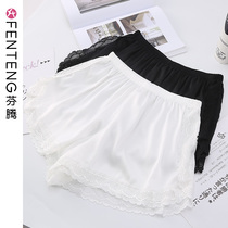 Fenten underpants womens anti-walking light comfortable womens safety pants sexy lace border wolf insurance simulation silk shorts