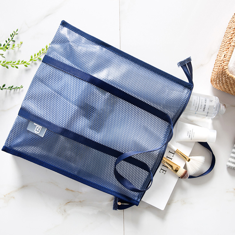 [The goods stop production and no stock]Travel transparent cosmetic bag waterproof PVC bath bag portable swimming bag wash bag portable bath bag beach bag