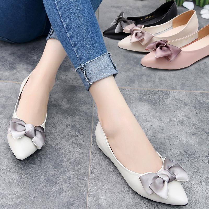 45.77] Shoe Women Summer 2019 New Korean Flat sole Single