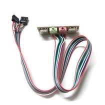 台式电脑主机箱前置USB2.0音频接口面板带耳机麦克风插孔50-60cm