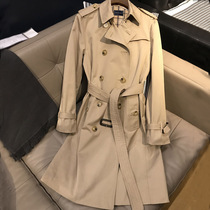 Trench coat women 2021 New Long style high-end temperament popular fried street little man English wind Spring and Autumn burst coat