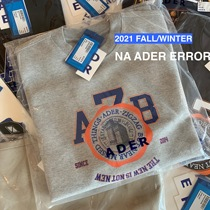 ADER (first) foundry direct supply of 2021 early autumn new British logo round neck sweater