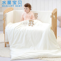 Mercury print 7-piece Baby Baby Baby and small Suite bedding nursery quilt Kit