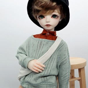 5af3a8f2ad3 1 4 BJD  SD Boy baby ClothesWigTL officer with 1 4 Casual SweaterPants