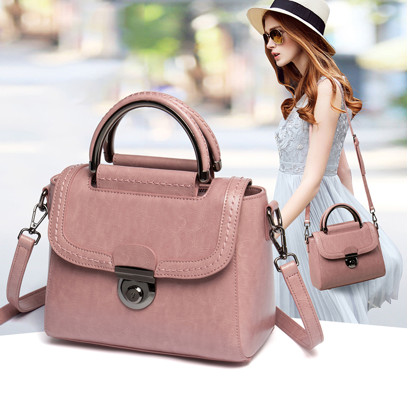 Viney bag female 2018 new leather handbags on the new small package tide Korean version of the wild Messenger shoulder bag