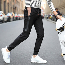 Spring-Summer mens Korean version of the trend of the little spring slim fit pants