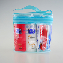Shulei 50ml Paid Travel Washing Bag Set, Folding Toothbrush Towel Factory Direct Sales in Hotels and Hotels