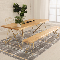 Iron tea table Tea table and chair combination Industrial style Simple modern new Chinese office tea table Tea table Tea table Tea table
