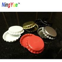 DIY Bottle cap 100 time gemstone bottom bracket DIY handmade accessories round beer bottle cover tinplate bottom bracket