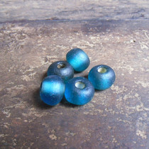 Qing Dynasty old glass bead beads Hand string Diyz beads burst Old bond