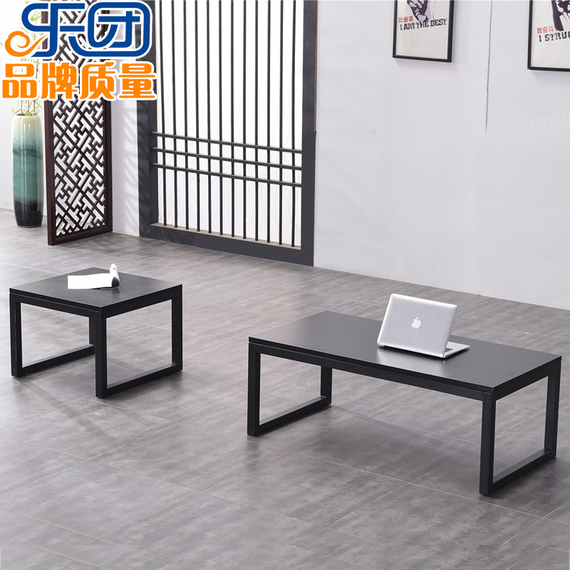 Orchestra office coffee table simple modern tempered glass sheet face Living room office small household simple coffee table