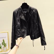 Small leather clothing women Europe station 2021 Spring and Autumn New Korean version of short locomotive clothing slim puleather jacket coat
