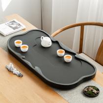 Household Wujin Stone tea tray whole living room simple stone size tea table tea set drainage tea sea can be customized