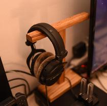 Твердая деревянная подставка для наушников креативная полка для наушников деревянная подставка для наушников интернет-кафе Универсальный держатель для наушников