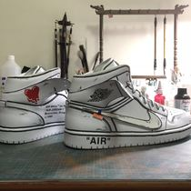 Penny a shoe custom DIY hand-painted color graffiti two yuan ow style hook line AJ1