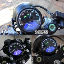 Motorcycle retro modification CG125 odometer speed oil meter Baboon LCD led instrument Ranger retro modification