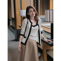 LORRAINES must BUY) classic spring and autumn style small fragrant sling cardigan two-piece sweater womens coat