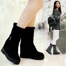 Winter special new winter Korean version of the snow boots women in the tube in the high-level frosted boots leather warm students cotton boots 06