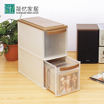 Japan imported CD storage box large capacity DVD disc finishing box game CD storage box comic book box