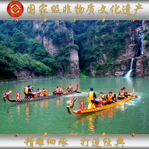 Dragon boat manufacturers race dragon boat Dragon boat Festival race dragon boat multi-hand paddle wearing FRP dragon boat wooden dragon boat Boat
