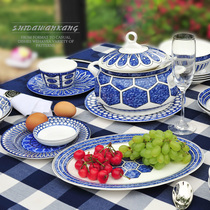 Dish set Kangqiao bone Porcelain tableware single product Chinese microwave creative ceramics household dishes free collocation
