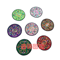 New machine embroidery embroidery ethnic style jewelry ornaments ethnic style Yunnan Folk Crafts embroidery coaster exquisite