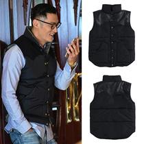 Прилив бренд ю Вэнь ЛЕ с разделом жилет мужской вниз хлопок пальто утолщение пара корейской версии теплый жилет мага весной и осенью