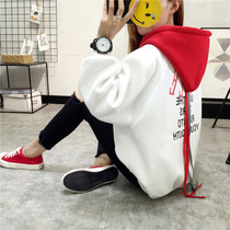Hooded pullovers Korean version of loose wild fall winter and cashmere sweater