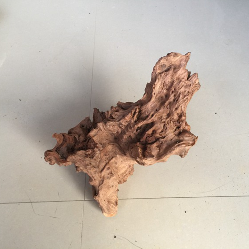 Natural original ecological weathered dead wood roots natural weathered wood roots carving air pineapple wood base carving wool