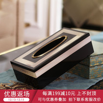 Modern light luxury Model room home practical soft decorations piano paint cow bone towel box coffee table decoration