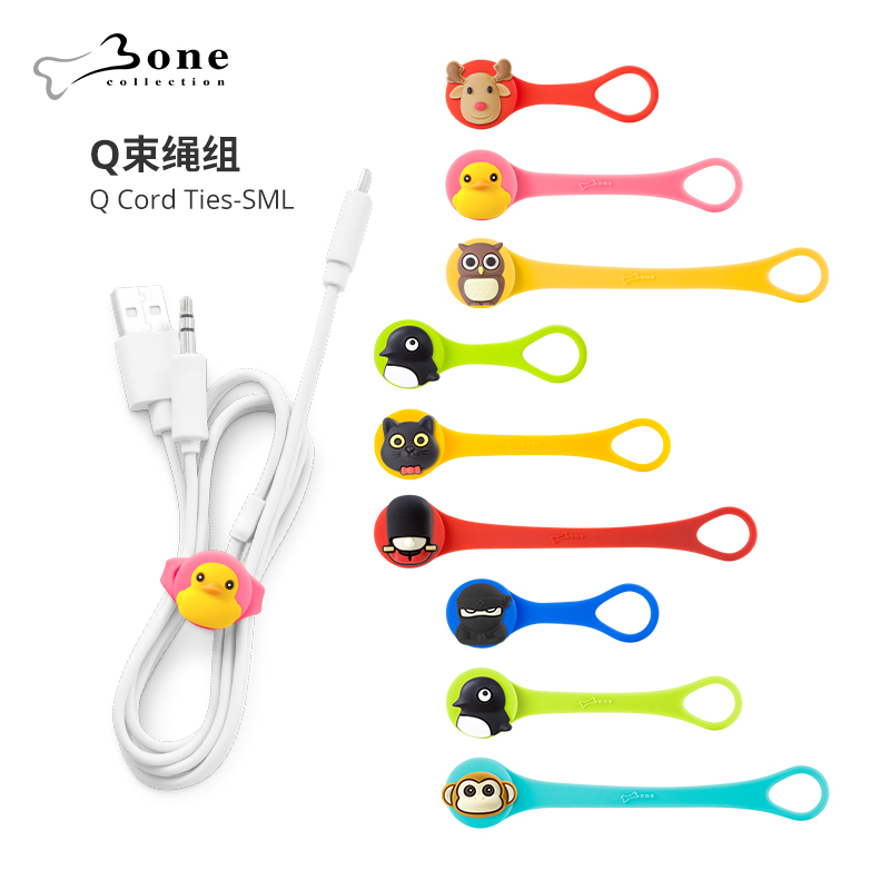 Bone Official Genuine Data Line Receiver Disney Doll Style Headphone Winder Winder Wire Collector