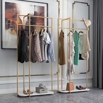 Скандинавская роскошь магазин одежды вешалка пола спальня главная мрамор кованого железа вешалка простой и современный