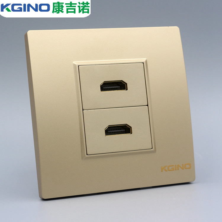 86 type two high-definition HDMI high-definition digital TV in-line panel dual-port hdmi cable TV wall socket