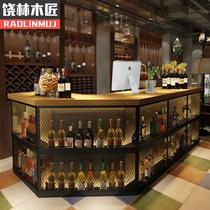 Retro Industrial Style Cashier Bar Grill Wrought iron Bar Restaurant Gym Front Desk Front Desk Corner