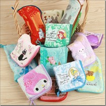The new model recommends foreign trade original single cotton yak embroidered water cup umbrella bottle cartoon other collection zipper bag.