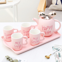European ceramic creative water cold kettle tea-resistant living room water Cup coffee cup Teacup home Cup set