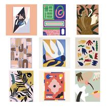 Pop art) Popper retro art Paper Super Beauty set effortless good taste ~ 9 only into