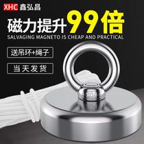 Strong magnet Super NdFeB magnet High strength round rubidium Ru neodymium large block salvage iron absorber Magneto