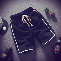 Tide brand striped casual shorts mens summer thin ins trend loose straight tube wear five-point pants sports pants