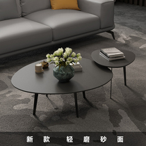 Italian minimalist coffee table simple modern personality creative designer small household living room oval impotence ins