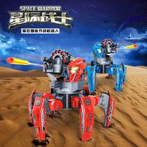 Interstellar warrior Electric Remote control robot Intelligent Parent-child battle all-terrain dual weapon six foot spider toy