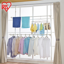 Alice Floating window Balcony windowsill drying rack stand-free hole indoor telescopic drop rod ground drying rack MW
