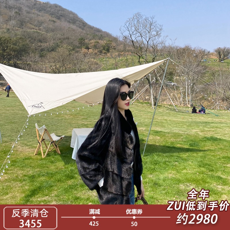 2021 new imported fur coat womens whole young fashion short mink fur show thin coat fur