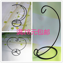 Moss Micro landscape ecological bottle hoist iron frame bracket hook heart type Half Moon type shelf flower rack bottle frame Iron