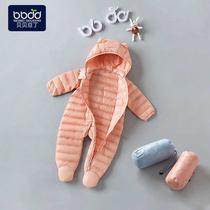 婴儿0-1岁3-6个月男女新生儿哈衣