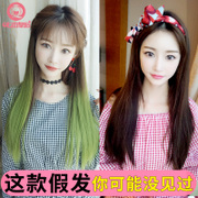 Seven Queen Street female wig long straight hair long hair hidden no trace of hair extensions natural fashion color gradient hair set