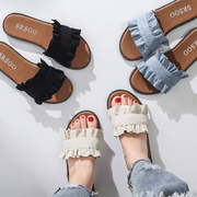 A word out Harajuku society female slippers 2017 new summer fashion all-match wear beach sandals