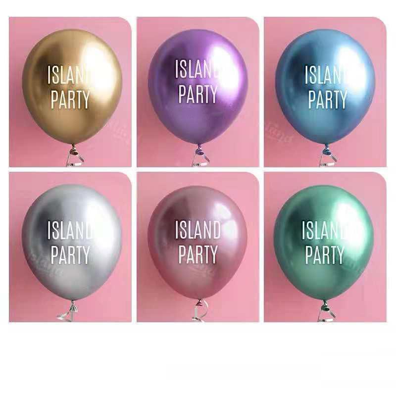 Le ballon en métal personnalisé d'impression logo ballon personnalisé pousser anniversaire ouverture créative diy décoration ballon publicitaire