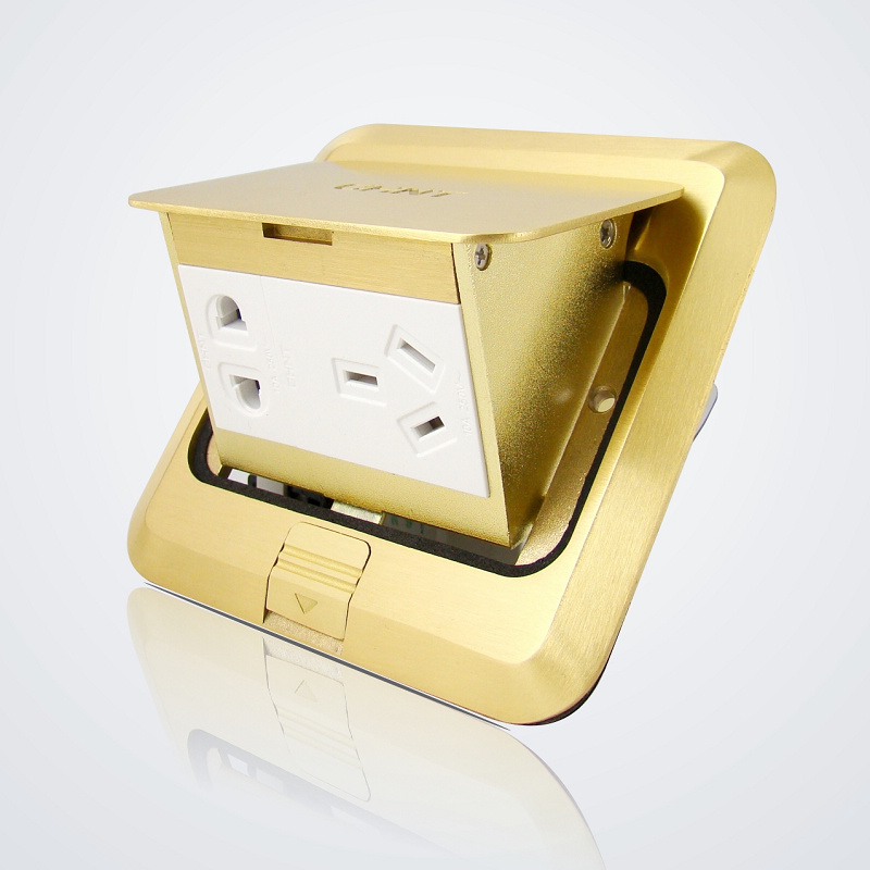 Chint inserted Square-shaped floor socket pop-up Brass five-hole inserted without inserting the cassette