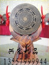 Zhuang Xiang Copper drum Guangxi featured gifts 13 cm pure brass copper 13cm drum with high-grade packaging